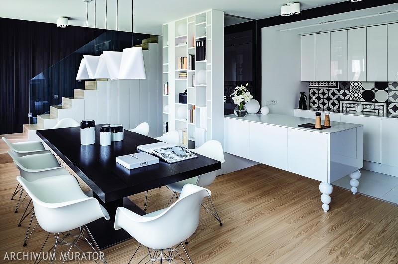 Czarno-białe kolory wnętrza