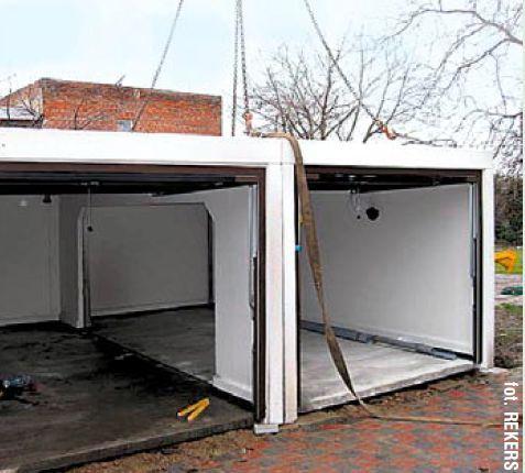 Garaż betonowy cena łódzkie