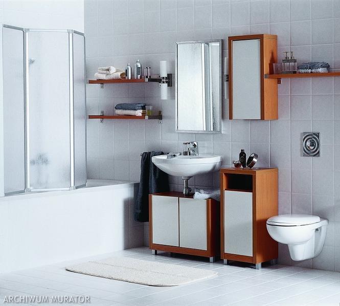 Różne okładziny w łazience