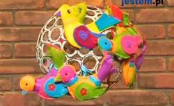 Filcowe dekoracje wielkanocne. Kolorowe ptaszki - ZRÓB TO SAM