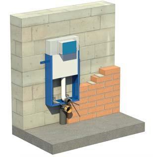Montaż stelaża do zabudowy ciężkiej - podłączenie pionowe