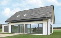 Prefabrykowany dom pasywny, który zbudowano w miesiąc