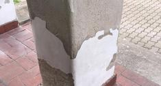 Jak odnowić filar, na którym popękał tynk?